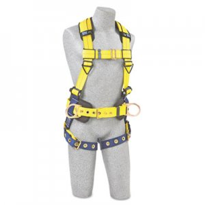 DBI-SALA Full-Body Harness, Tongue Buckles, Side/Back D-Rings, Large, 420lb Capacity DBS1101655 098-1101655