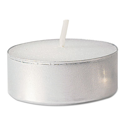 FancyHeat Tealight Candle, 5 Hour Burn, White, 500/Carton FHCF410 F410