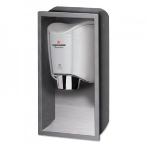 WORLD DRYER SMARTdri Hand Dryer Recess Kit, 15 x 4 x 25, Stainless Steel WRLKKR973 KKR-973