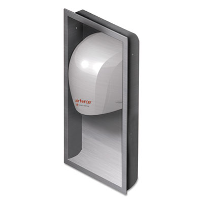 WORLD DRYER Airforce Hand Dryer Recess Kit, 15 x 4 x 25, Stainless Steel WRLKJR973K1 KJR-973K-1