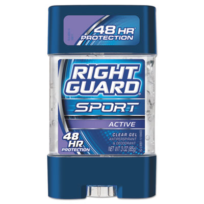 Right Guard Sport Gel Deodorant, Active Scent, 3 oz Tube, 12/Carton DIA06951CT 1700006951