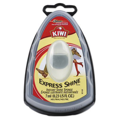 KIWI Express Shine Sponge, Clear, 7 mL,12/Carton DVOCB184002 CB184002