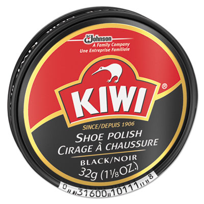 KIWI Black Shoe Polish, 32 g Tin, 144/Carton DVOCB101113 CB101113