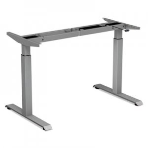 "Alera 2-Stage Electric Adjustable Table Base, 27 1/4"" to 47 1/4"" High, Gray ALEHT2SSG"