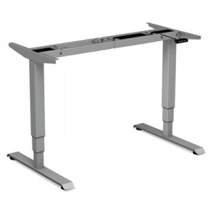 "Alera 3-Stage Electric Adjustable Table Base w/Memory Controls, 25"" to 50 3/4""H, Gray ALEHT3SAG"