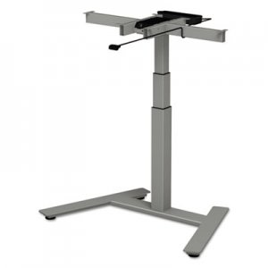 "Alera 3-Stage Single-Column Electric Adjustable Table Base, 24 3/4"" to 43 1/4""H, Gray ALEHT1CSG"