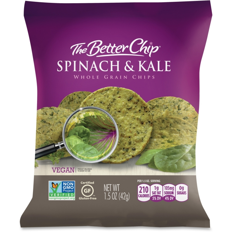 Better Chip Spinach/Kale Chips 56095 SUG56095