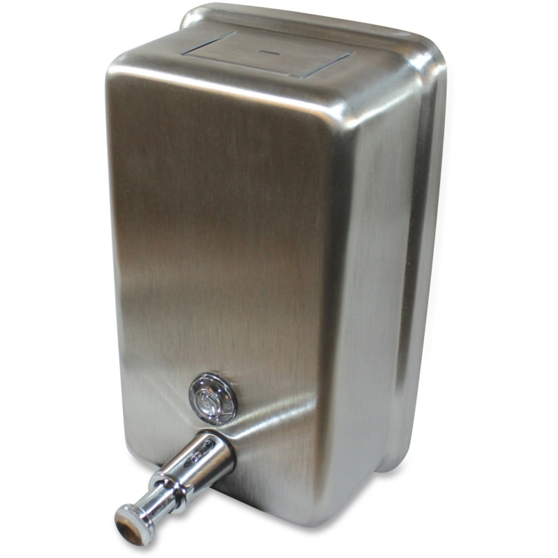 Genuine Joe Stainless Vertical Soap Dispenser 85134CT GJO85134CT