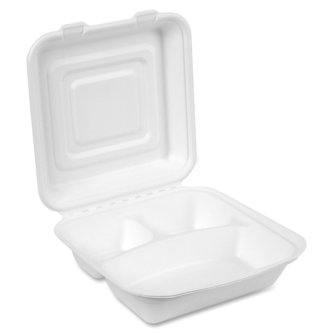 Dixie EcoSmart 3-Compartment Foam Container ES9CSCOMPCT DXEES9CSCOMPCT
