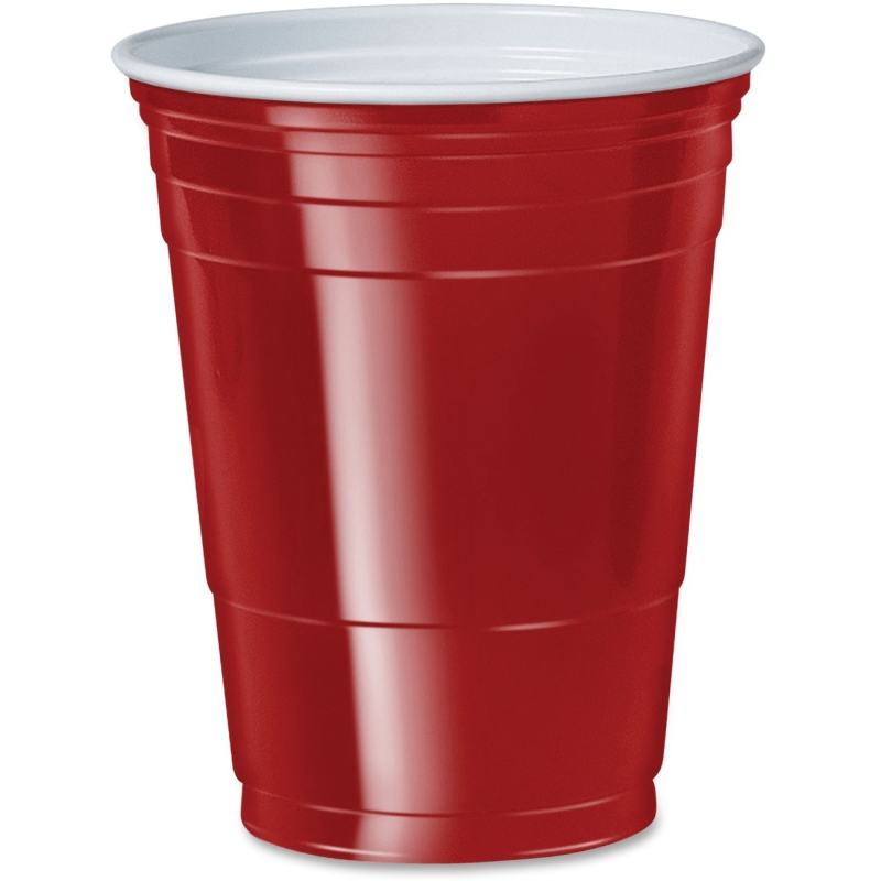 Solo 16 oz. Plastic Party Cups P16R SCCP16R