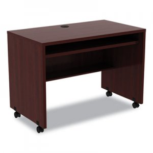 Alera Valencia Mobile Workstation Desk, 41 3/8 x 23 5/8 x 29 5/8, Mahogany ALEVA204224MY