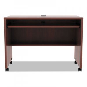 Alera Valencia Mobile Workstation Desk, 41 3/8 x 23 5/8 x 29 5/8, Med Cherry ALEVA204224MC