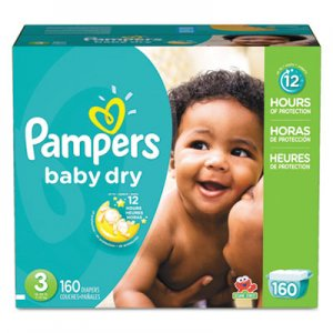 Pampers Baby Dry Diapers, Size 3: 16 to 28 lbs, 160/Carton PGC86237CT 10037000862373