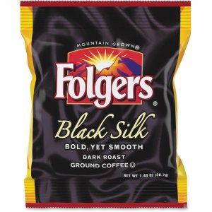 Folgers Black Silk Ground Coffee Fraction Pack 00019