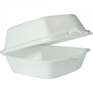 Solo White Foam Hinged Lid Containers 60HT1 DCC60HT1