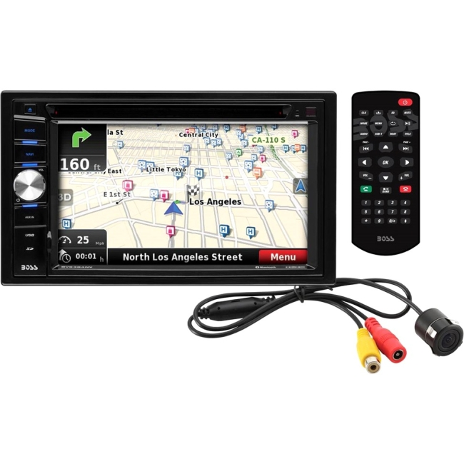 "Boss Audio Double-DIN DVD Player 6.2"" Touchscreen Navigation Bluetooth BVNV9384RC"