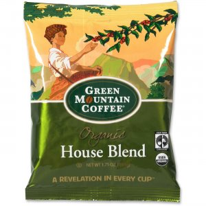 Green Mountain Coffee Roasters Fair Trade Organic House Blend Decaf Coffee T5493 GMT5493