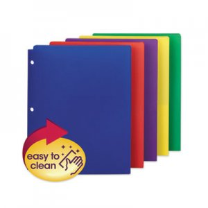 Smead Poly Snap-In Two-Pocket Folder, 11 x 8 1/2, Assorted, 10/Pack SMD87939 87939