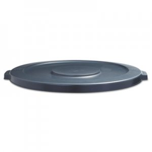 Boardwalk Lids for 44-Gal Waste Receptacles, Flat-Top, Round, Plastic Gray BWK44GLWRLIDGRA 1868184
