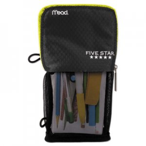 Five Star Stand 'N Store Pencil Pouch, 4 1/2 x 8, Black MEA73993 73993