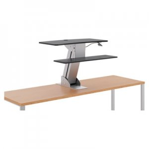 HON Directional Desktop Sit-to-Stand Riser without Monitor Arm, Silver/Black HONS1100 HS1100