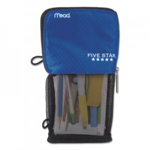 Five Star Stand 'N Store Pencil Pouch, 4 1/2 x 8, Cobalt MEA73990 73990