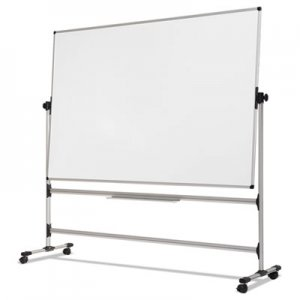 MasterVision Earth Silver Easy Clean Revolver Dry Erase Board,48x70, White, Steel Frame BVCRQR0521 RQR0521