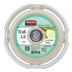 Rubbermaid Commercial TC TCell 2.0 Air Freshener Refill, Cucumber Melon, 24 mL Cartridge, 6/Carton RCP1957524CT 1957524