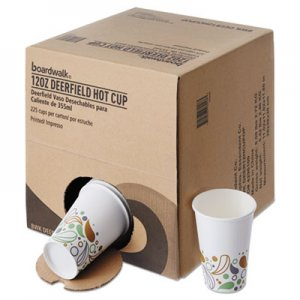 Boardwalk Convenience Pack Paper Hot Cups, 12 oz, Deerfield Print, 225/Carton BWKDEER12HCUPOP