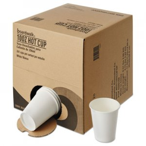 Boardwalk Convenience Pack Paper Hot Cups, 10 oz, White, 261/Carton BWKWHT10HCUPOP
