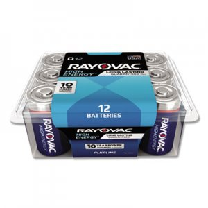 Rayovac Alkaline Battery, D, 12/Pack RAY81312PPK 813-12PPK