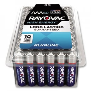 Rayovac Alkaline Battery, AAA, 60/Pack RAY82460PPK 82460PPK