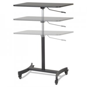 Victor High Rise Mobile Adjustable Sit-Stand Workstation, 30 3/4 x 22 x 44, Black VCTDC500 DC500
