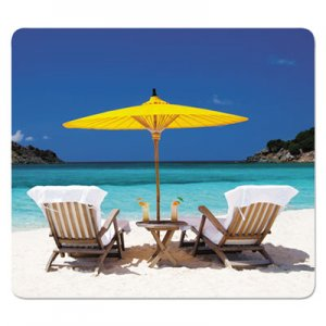 Fellowes Recycled Mouse Pads, Caribbean Beach Design, 9 x 1/16 FEL5916301 5916301