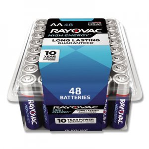 Rayovac Alkaline Battery, AA, 48/Pack RAY81548PPK 81548PPK