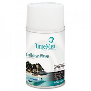 TimeMist Metered Fragrance Dispenser Refill, Caribbean Waters, 6.6 oz, Aerosol TMS1042756 1042756