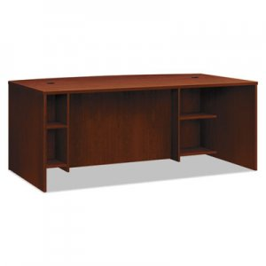 basyx BL Laminate Series Breakfront Desk Shell Bow Front, 72w x 42d x 29h, Med. Cherry BSXBL2111BFA1A1