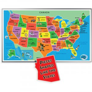 A Broader View 55-piece Kids Jumbo USA Puzzle 153A ABW153A