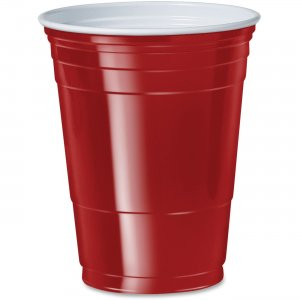 SOLO Cup 16 oz. Plastic Party Cups P16RCT SCCP16RCT