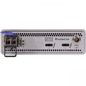 ATTO 40Gb/s Thunderbolt 3 (2-port) to 10GbE (1-Port) ( includes SFP ) TLNS-3101-D00