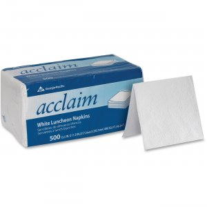 Acclaim White 1-Ply 1/4 Fold Luncheon Napkins 37707 GPC37707