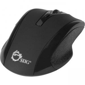 SIIG 6-Button Ergonomic Wireless Optical Mouse - Black JK-WR0A12-S2