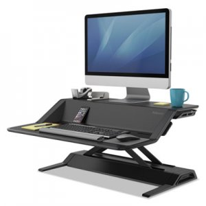 Fellowes Lotus Sit Stand Workstation, 32 3/4 x 24 1/4 x 5 1/2 to 22 1/2