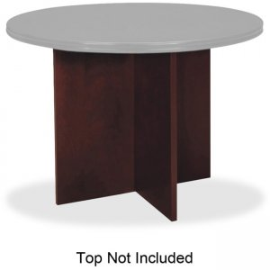 Basyx by HON Veneer Round Conference Table Top with X-Base BWX01NN BSXBWX01NN