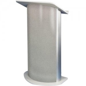 AmpliVox Curved Gray Granite Lectern sn3125
