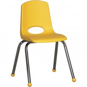"ECR4KIDS 16"" Stack Chair, Chrome Legs ELR-0195-YE ECR0195YE"