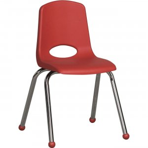 "ECR4KIDS 16"" Stack Chair, Chrome Legs ELR-0195-RD ECR0195RD"