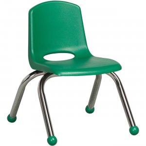 "ECR4KIDS 10"" Stack Chair, Chrome Legs ELR-0192-GN ECR0192GN"