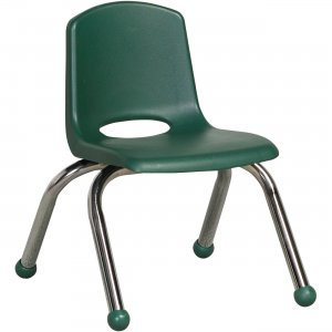 "ECR4KIDS 10"" Stack Chair, Chrome Legs ELR-0192-HG ECR0192HG"