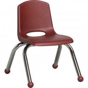 "ECR4KIDS 10"" Stack Chair, Chrome Legs ELR-0192-BY ECR0192BY"
